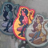 Mil-Spec Monkey Velcro Morale Patch Devil Girl